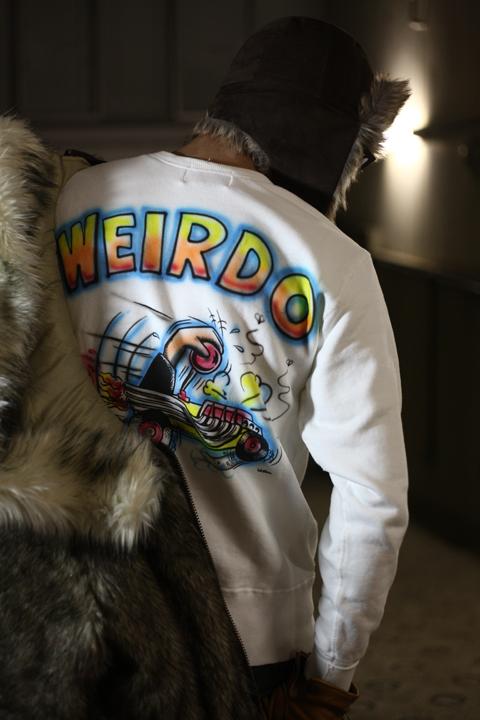 WEIRDO/ウィアード   「ZOWEIRDOS - SWEAT AIR BRUSH」   オリジナル裏毛クルースウェットエアブラシスペシャル