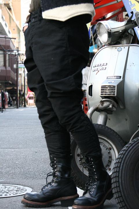 BLACK SIGN/ブラックサイン  「Moleskin Motorcycle Breeches」  モールスキンブルーチース