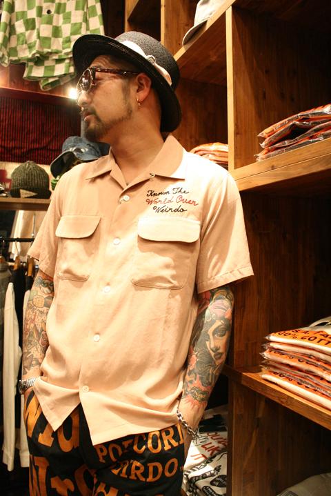 WEIRDO/ウィアード   「MECHANICAL TOYS - S/S SHIRTS」  テンセルツイル刺繍S/Sシャツ