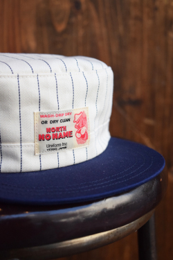 NORTH NO NAME/ノースノーネーム   「HERRING BONE STRIPE CAP」  ワークキャップ