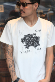 GANGSTERVILLE/ギャングスタービル  「No.216 - S/S T-SHRITS」  VネックS/S TEE