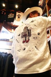 WEIRDO/ウィアード   「S ROBOT - L/S SHIRTS」  ロボット刺繍L/Sシャツ