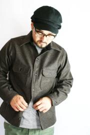 BLACK SIGN/�֥�å�������   ��Wool Melton Anchor Shirt��  ��������ȥ������