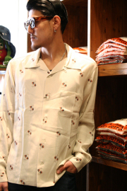 GANGSTERVILLE/ギャングスタービル   「COMEDY TRAGEDY - L/S SHIRTS」 ストライプツイルシャツ