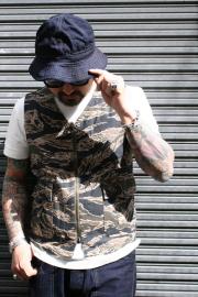 TROPHY CLOTHING/トロフィークロージング  「Tigerstripe Fatigue Vest」  タイガーカモワークベスト