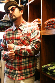 WEIRDO/ウィアード   「SO? - L/S SHIRTS」 ネルチェックL/Sシャツ