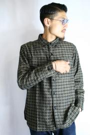 BLACK SIGN/�֥�å������� ��Banded Cross BD Shirt�� �Х�ǥåɥ��?�ܥ���������