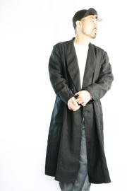 BLACK SIGN/ブラックサイン  「Old Linen Shawl Collar Coat」  ショールカラーコート