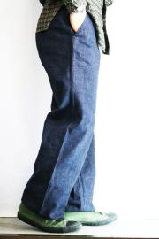BLACK SIGN/�֥�å������� ��15oz Denim Marine Trousers�� ���ǥ˥�ޥ��ȥ饦������