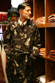 GANGSTERVILLE/ギャングスタービル  「BLUESY - COAT」  オリジナルコットンプリントコート