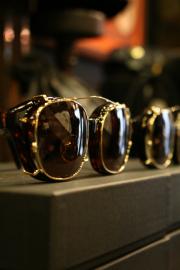 "GLAD HAND×丹羽雅彦 「J-IMMY & CLIP ON GLASSES ""GOLD""」 クリップオン眼鏡"