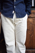 NORTH NO NAME/ノースノーネーム   「HERRINGBOON STRIPE PANTS」  ワークパンツ