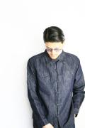 BLACK SIGN/ブラックサイン  「10oz Cotton Linen Denim F/O Geronimo Shirt」 コットンリネンデニムシャツ