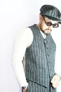 TROPHY CLOTHING/トロフィークロージング  「AC Harris Tweed Waist Coat」  ハリスツイードベスト