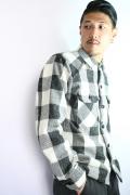 TROPHY CLOTHING/トロフィークロージング  「Buffalo Mix Wool Shirts.」  ケンピバッファローウールシャツ