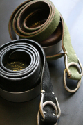 TROPHY CLOTHING/トロフィークロージング  「W Ring Suede Belt」  スエードリングベルト