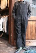 BLACK SIGN/ブラックサイン  「Old Linen Tailor Man Apron Waist Over-alls」  エプロンオーバーオールズ