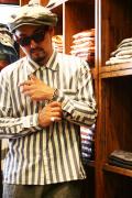WEIRDO/ウィアード   「23 REFEREE - L/S SHIRTS」  コットンストライプシャツ
