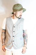 TROPHY CLOTHING/トロフィークロージング  「Blue Steel Waist Coat」  シャンブレーワークベスト
