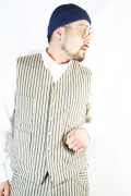 TROPHY  CLOTHING/トロフィークロージング  「Continental Waist Coat」 ランダムヒッコリーベスト