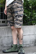 TROPHY CLOTHING/トロフィークロージング  「Tigerstripe Fatigue Shorts」  タイガーカモショーツ