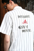 GANGSTERVILLE/ギャングスタービル   「DIVISION - S/S SHIRTS」 ストライプツイルシャツ