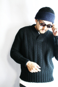 BLACK SIGN/ブラックサイン  「Intricate Wave V-Neck Sweater」  イントリケイトウェーブVネックセーター