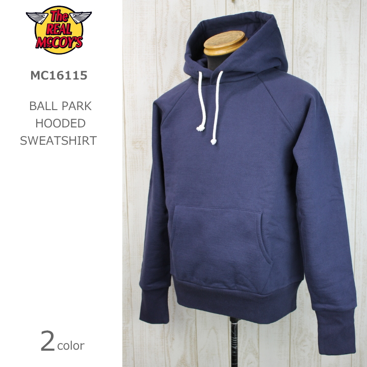 THE REAL McCOY'S BALL PARK HOODED SWEATSHIRT