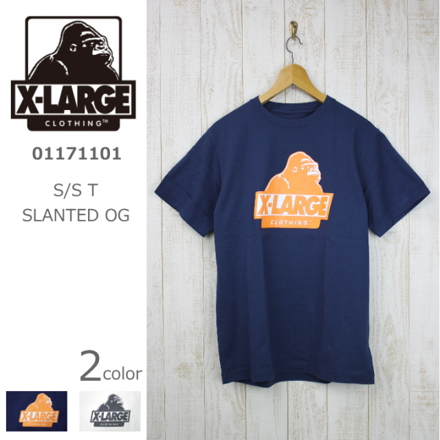X-LARGE/エクストララージ S/S T SLANTED OG