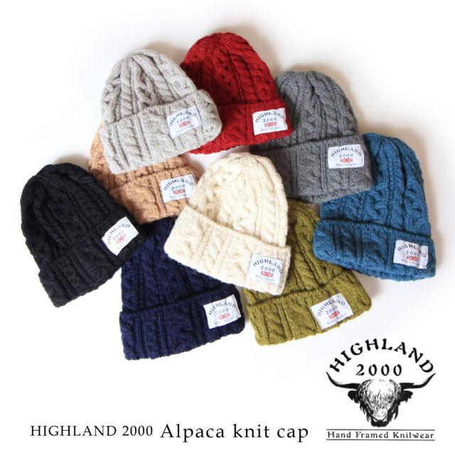 (アナグラム) ANAGRAM HIGHLAND 2000 ハイランド2000 アルパカ BOB CAP ボブキャップ ニットキャップ ニット帽