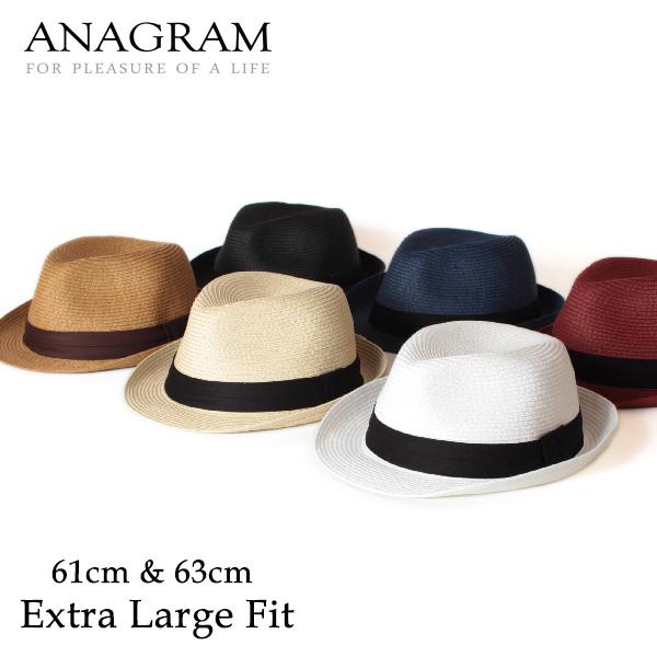 【即納】ANAGRAM アナグラム ペーパーブレードハット 中折れハット 麦わらハット 麦わら帽子 大きいサイズ 帽子 UV対策 UVカット帽子