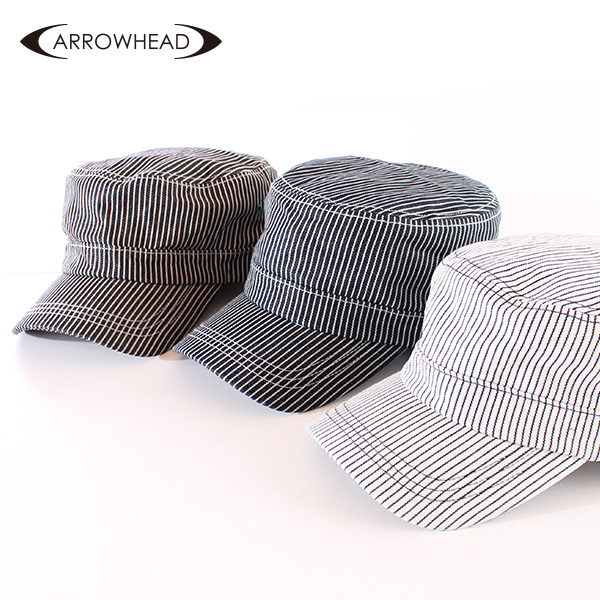 【即納】ARROWHEAD アローヘッド ヒッコリーワークキャップ 大きいサイズ 帽子