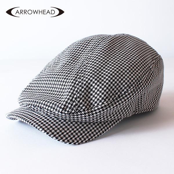 【即納】ARROWHEAD アローヘッド 千鳥格子柄ハンチング 大きいサイズ 帽子