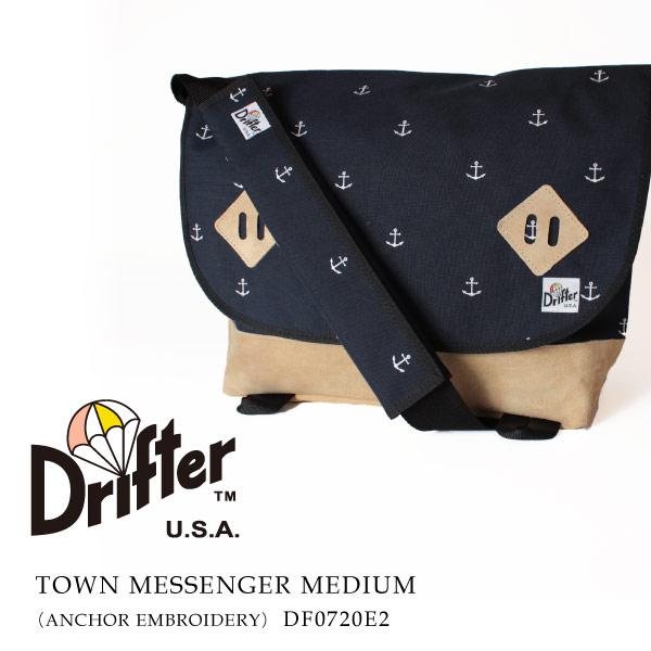 (ドリフター) Drifter メッセンジャーバッグ ショルダーバッグ ANCHOR EMBROIDERY TOWN MESSENGER M