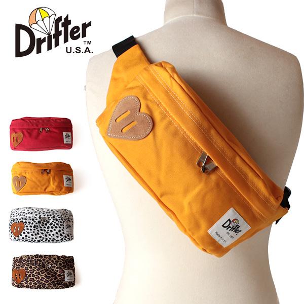 【即納】【送料無料】Drifter ドリフター ボディバッグ ヒップバッグ ウエストバッグ DF538 CLASSIC HIP SACK Be Mine Collection
