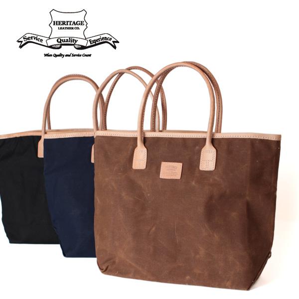 【即納】【送料無料】Heritage Leather ヘリテージレザー 18ozワックスキャンバス ビッグトートバッグ本革 レザー 鞄