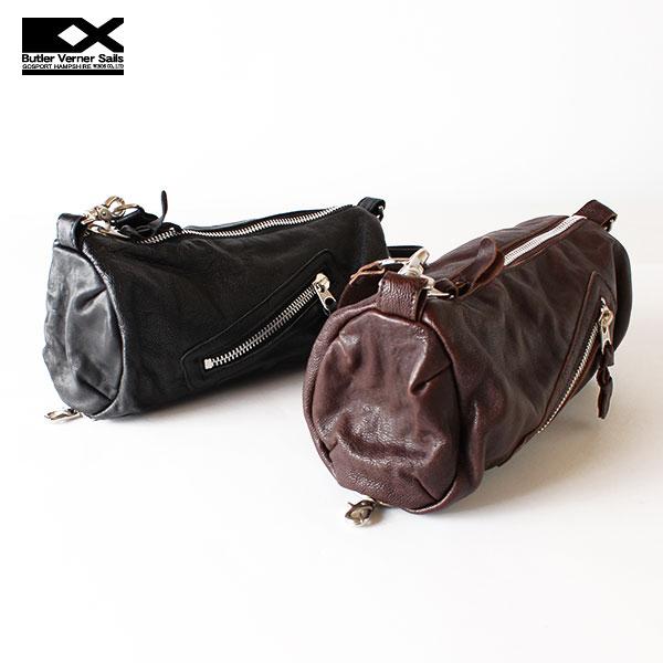 【即納】【送料無料】Butler Verner Sails レザー ミニロールショルダーバッグ ヒップバッグ ボディバッグ バトラーバーナーセイルズ 鞄