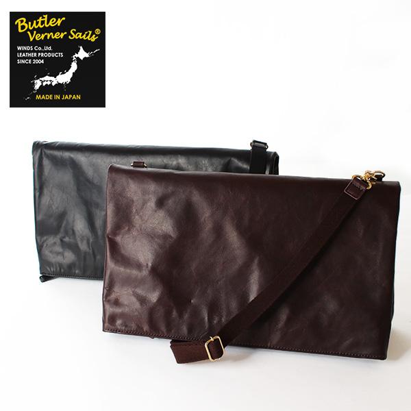翌日配達【即納】【送料無料】Butler Verner Sails クラッチバッグ 2way ショルダーバッグ ポニープルアップレザー 馬革 バトラーバーナーセイルズ 鞄