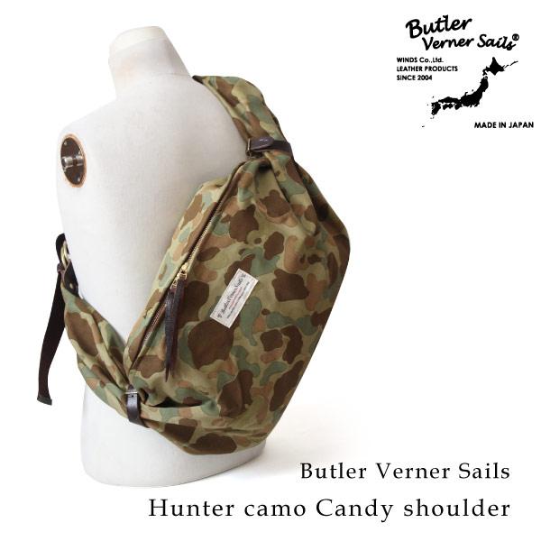 (バトラーバーナーセイルズ) Butler Verner Sails キャンディショルダーバッグ 斜めがけ ワンショルダー ハンターカモフラ 迷彩柄