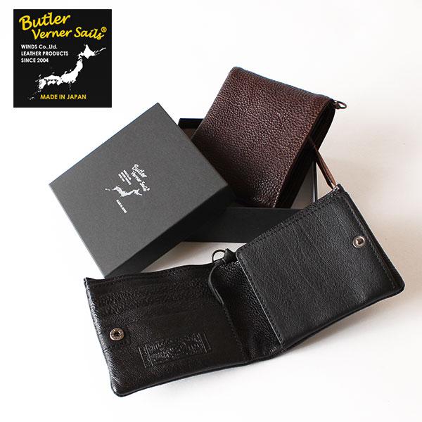 【即納】【送料無料】Butler Verner Sails レザーウォレット 二つ折り財布 バトラーバーナーセイルズ