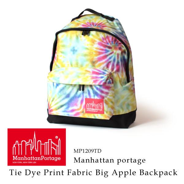 (マンハッタンポーテージ) Manhattan Portage タイダイ リュックサック デイパック Tie Dye Print Fabric Big Apple Backpack
