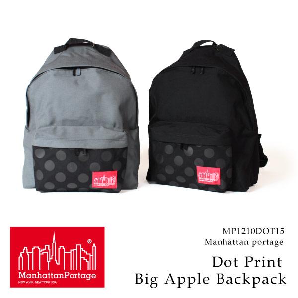 (マンハッタンポーテージ) Manhattan Portage リュック リュックサック デイパック Dot Print Big Apple Backpack メンズ レディース
