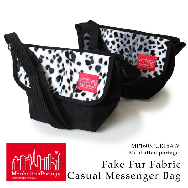 (マンハッタンポーテージ) Manhattan Portage メッセンジャーバッグ Fake Fur Fabric Casual Messenger Bag