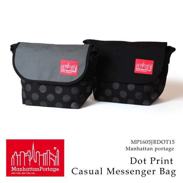 (マンハッタンポーテージ) Manhattan Portage メッセンジャーバッグ Dot Print Casual Messenger Bag メンズ レディース
