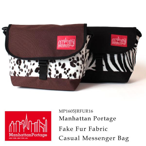 (マンハッタンポーテージ) Manhattan Portage メッセンジャーバッグ ショルダーバッグ Fake Fur Fabric Casual Messenger Bag