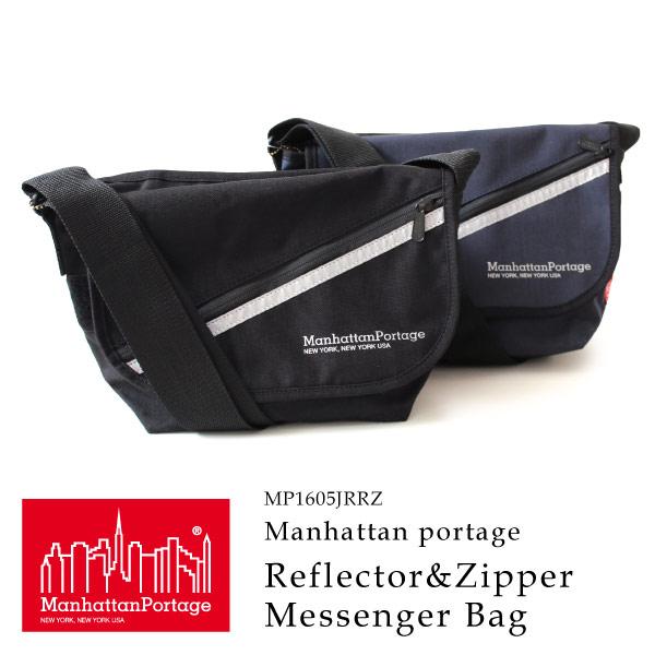 (マンハッタンポーテージ) Manhattan Portage メッセンジャーバッグ Reflector&Zipper Casual Messenger Bag
