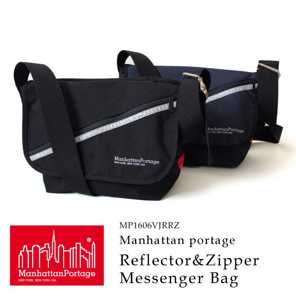 (マンハッタンポーテージ) Manhattan Portage メッセンジャーバッグ Reflector&Zipper Vintage Messenger Bag