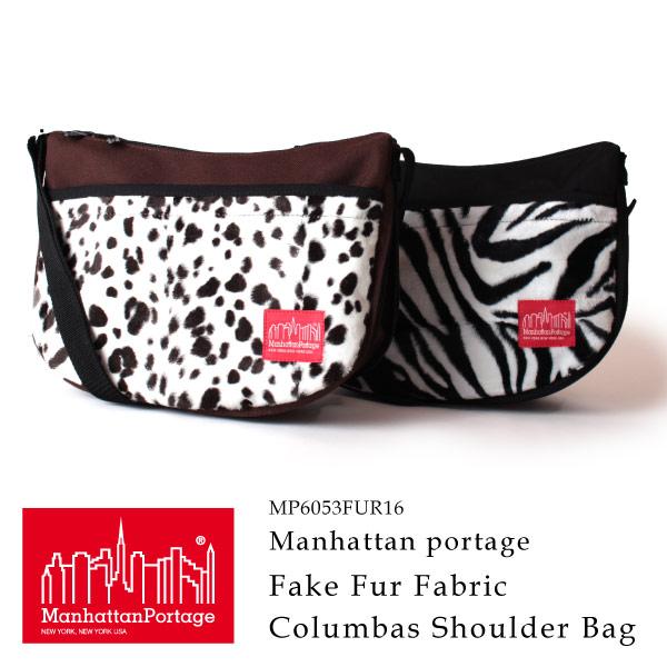 (マンハッタンポーテージ) Manhattan Portage コロンブスサークルショルダーバッグ 斜めがけバッグ Fake Fur Fabric