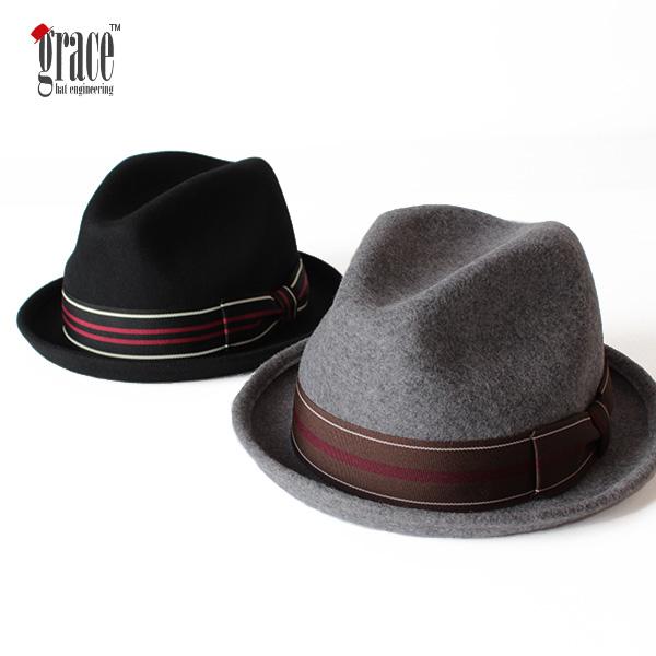 【即納】grace hats グレースハット ウールフェルトハット 中折れハット JAY HAT JIN 帽子