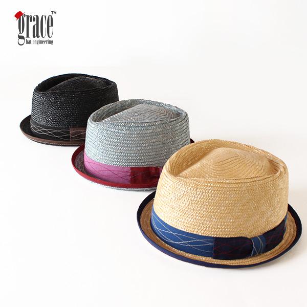 【即納】grace hats グレースハット ストローハット 麦わらハット 麦わら帽子 RAY HAT JORDAN 中折れハット 帽子